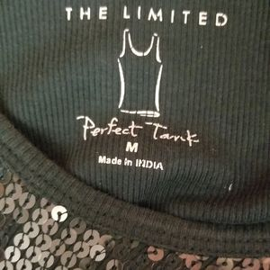 The Limited Tops - The Limited Sequins Tank Top Dark Green